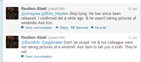 "Other lost ironies: Abati advising us to ""stop lying"" and  ""don't be stupid"". Both in one day."