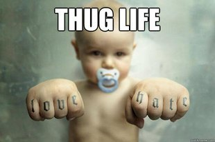 Yep. That's exactly how a thug's life is.